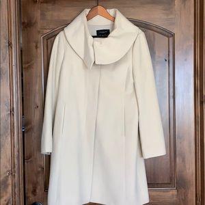 Ann Taylor cream dress coat.
